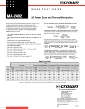 Crown Macro-Tech MA-2402 Supplementary Manual