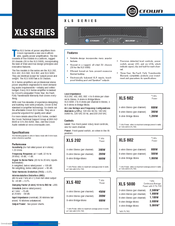 crown xls 802 manuals rh manualslib com Example User Guide User Guide Template