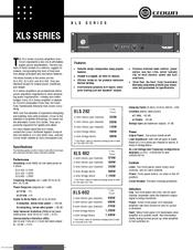 crown xls 602 manuals rh manualslib com Example User Guide User Manual
