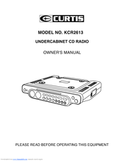 Curtis KCR2613 Owner's Manual
