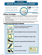D-link DVC-1100 Quick Installation Manual