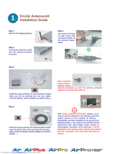 D-link ANT24-0801 Installation Manual
