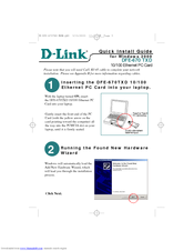 D-link DFE-670 TXD Quick Install Manual
