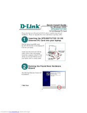 D-link DFE-680TXD Quick Install Manual