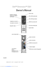 Dell Dimension C521 Owner's Manual