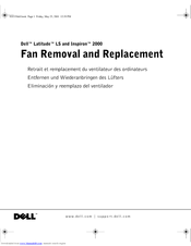 Dell Inspiron 2000 Fan Removal And Replacement