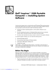 Dell Inspiron 3500 Installing System Software