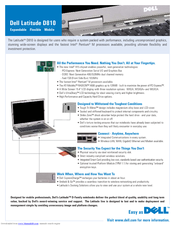 Dell Latitude D810 Brochure & Specs