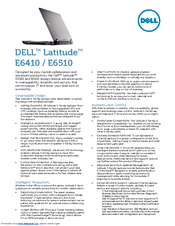 Dell Latitude E6410 Specifications