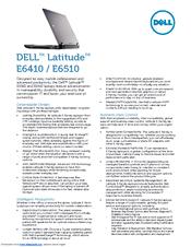 Dell Latitude E6410 Specifications