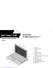 Dell Vostro V130 Setup And Features Information
