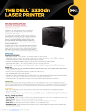 Dell 5330dn - Workgroup Laser Printer B/W Specifications
