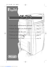 delonghi pinguino cf 210 manuals rh manualslib com delonghi cf210 manual pdf DeLonghi Espresso Coffee Machine