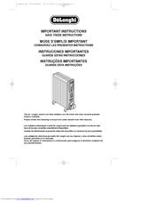 Delonghi HM25 Important Instructions Manual