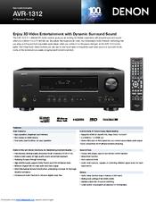 denon avr 1312 brochure specs pdf download rh manualslib com denon avr 1312 manual portugues denon avr 1312 manual portugues