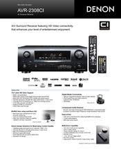 denon avr 2308 manuals rh manualslib com denon avr-2308 service manual denon avr-2308 service manual