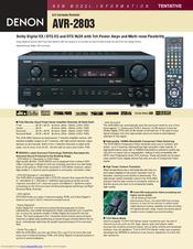 denon avr 2803 manuals rh manualslib com denon avr-2803 user manual Denon AVR- 591