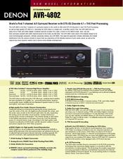 denon avr 4802 manuals rh manualslib com denon avr 4802 service manual AV Receiver Denon 4802R
