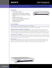 sony dvp nc85h s cd dvd player manuals rh manualslib com sony dvp nc85h service manual Sony DVD Player Silver