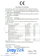 Draytek Vigor 2910VG Supplementary Manual