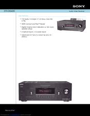 sony str dg600 multi channel av receiver manuals rh manualslib com Sony Receiver De545 sony receiver str-dg600 manual