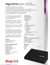 Draytek Vigor 2910VG Specifications