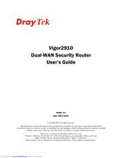 Draytek Vigor 2910VG User Manual