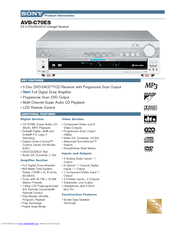 Sony AVD-C70ES Specifications