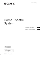 sony ht ss380 operating instructions manual pdf download rh manualslib com Sony TV Sony 3D Surround Sound System