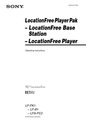 Sony LocationFree LF-B1 Operating Instructions Manual