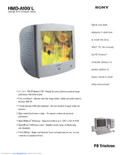 Sony FD Trinitron HMD-A100/L Specifications