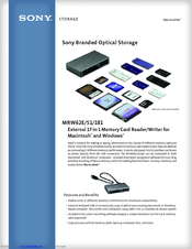 Sony MRW62E-S1 Specifications