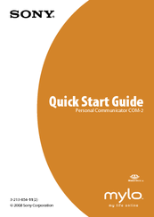 Sony COM-2  Supplement 1 Quick Start Manual