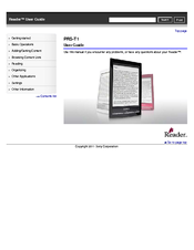 sony prs t1 user guide printable version user manual pdf download rh manualslib com Sony T1 Sony PRS-T1