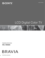 Louis cruise sony kdl 19m4000s bravia m series lcd television operating instructions manual fandeluxe Images