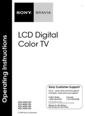 Pdf manual for sony tv bravia kdl-52s5100.