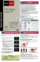 Download free pdf for sony bravia kdl-52s5100 tv manual.