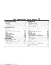 Cadillac 2005 XLR Owner's Manual
