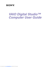 Sony VAIO Digital Studio PCV-RX750 User Manual