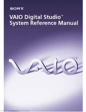 Sony VAIO Digital Studio PCV-RX750 System Reference Manual