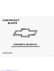 chevrolet 1997 blazer owner s manual pdf download