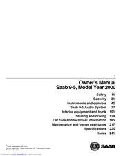 Saab 2000 9 5 23 turbo ecopower owners manual pdf download fandeluxe Gallery