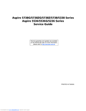 Acer Aspire 5738 Service Manual
