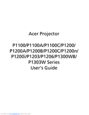 Acer P1100 Series User Manual