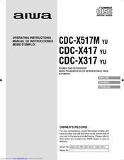 AIWA CDC-X417 Operating Instructions Manual