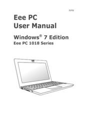 Asus Eee PC 1018PB Manuals