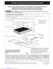 Electrolux E36EC75DSS Installation Instructions Manual