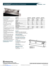 Electrolux Icon E48DD75ESS Specification Sheet