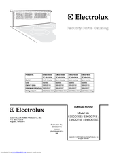 Electrolux Icon E48DD75ESS Factory Parts Catalog