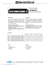 Electro-Voice Q66 Specifications
